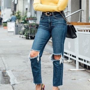 L'AGENCE Audrina High Rise Straight Leg Jeans